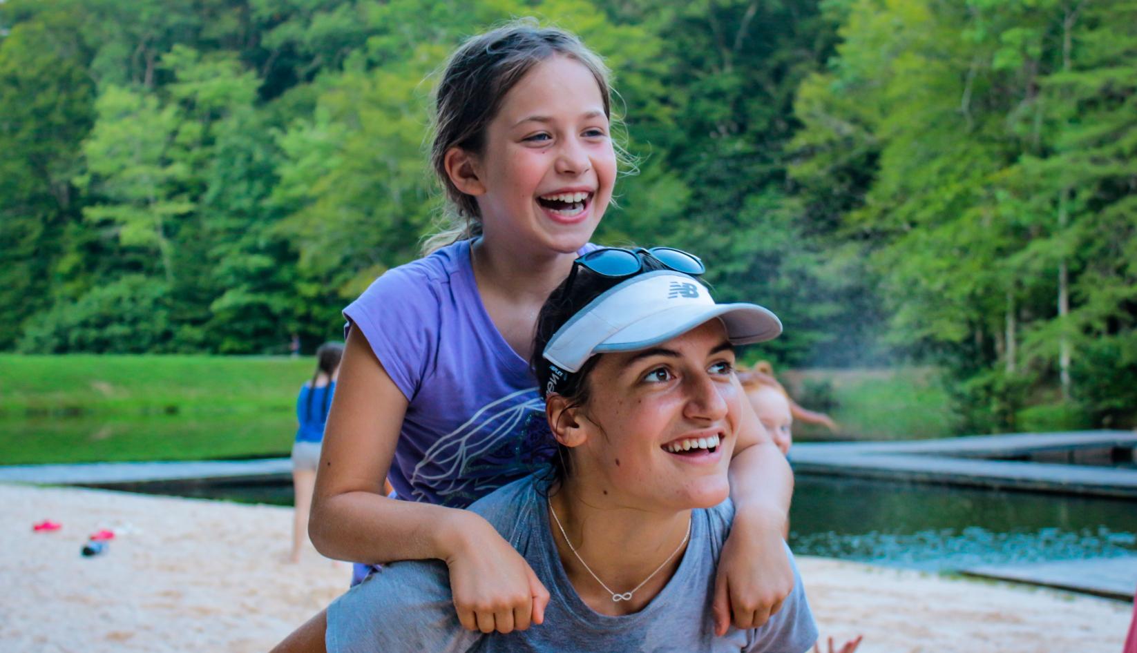 Summer camp teen counselor