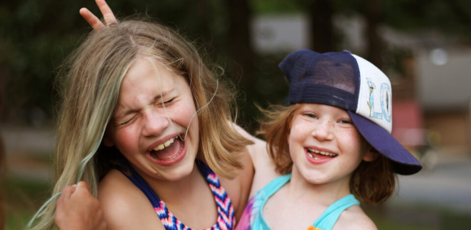 Junior Girl campers having fun at Camp Friendship in Virginia