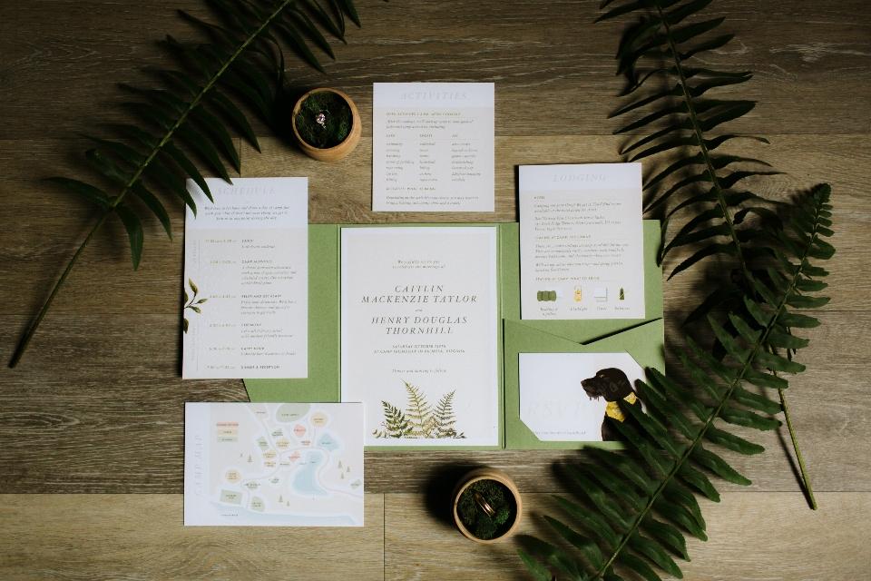 Wedding invitation display