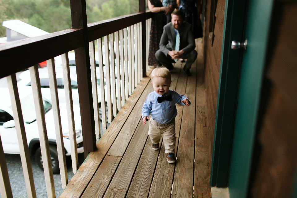 Toddler Boy playing at Camp Friendship summer camp wedding venue