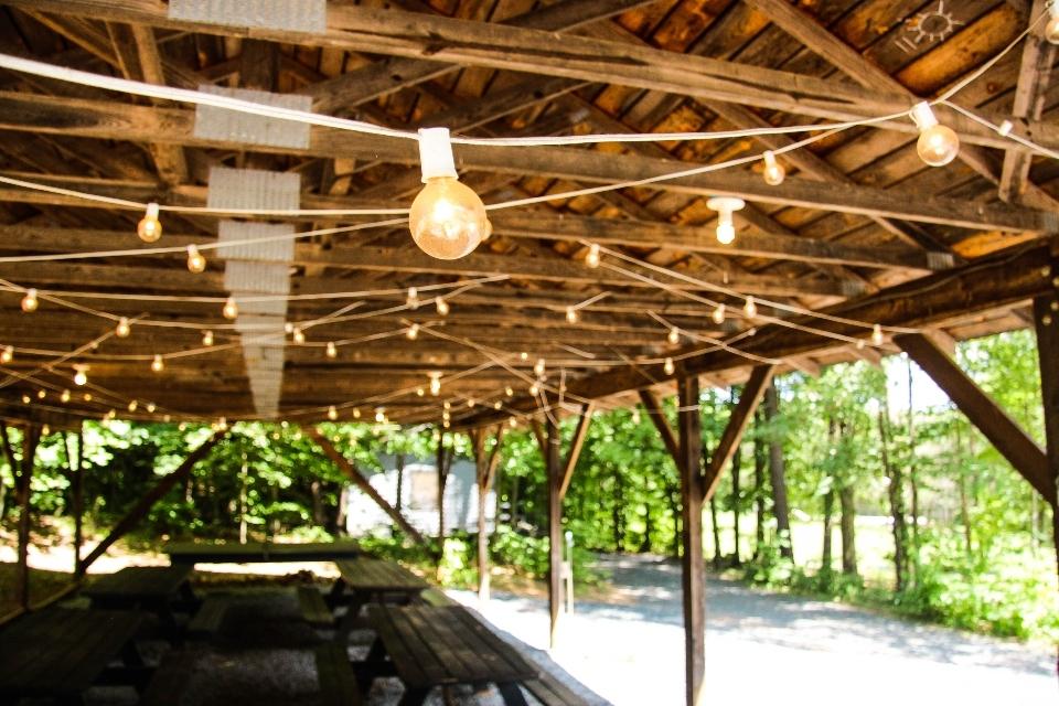 Junior Girls pavilion with string lights