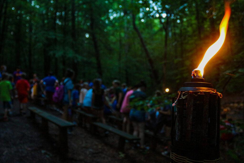 Campfire evening activity