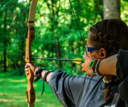 Archery is a popular camp activity at Camp Friendship