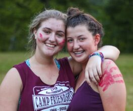 Teen campers smiling during summer camp at Camp Friendships