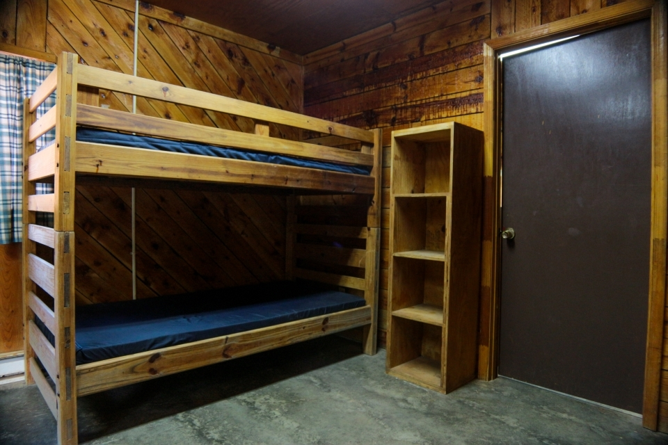 Pine Grove cabins sleep up to 14 guests