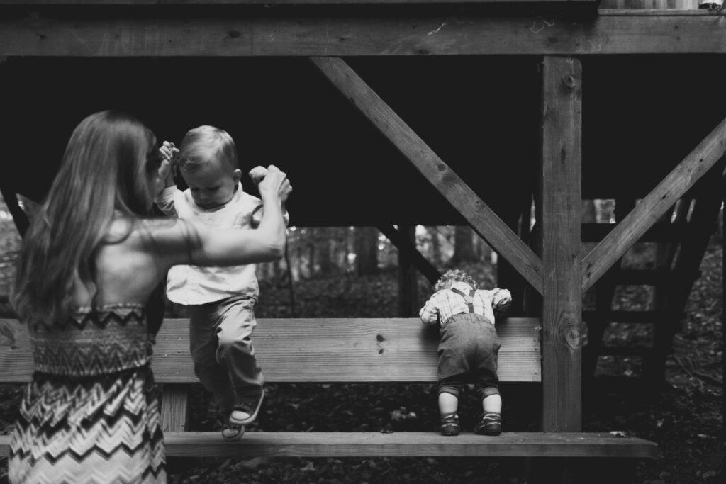 Family enjoying time on camp