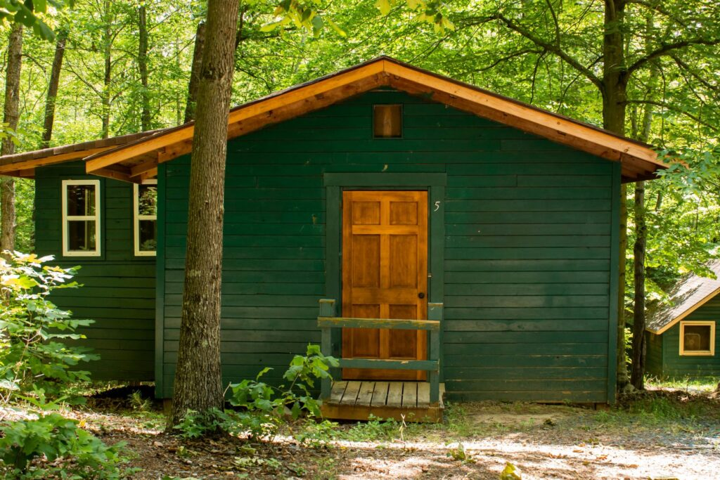 Pine Grove cabins available to rent at Camp Friendship